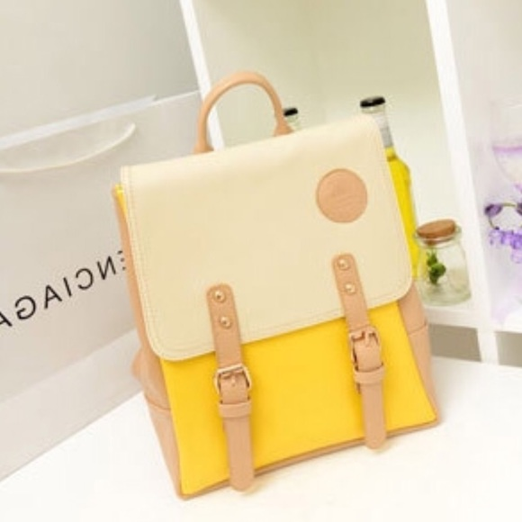 Handbags - LAST ONE! Yellow mini backpack!